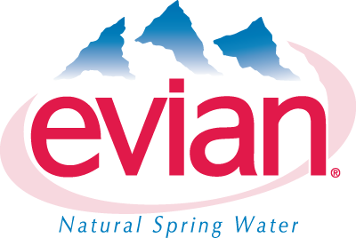 Evian Water Brand Colors